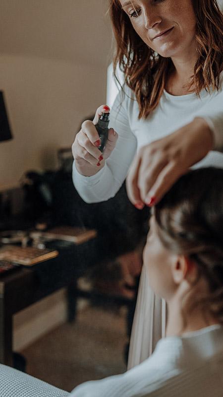 Brautstyling in Augsburg und Visagist für Make-up